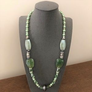 3/$25 ** Green Beads Chunky Necklace String